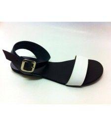 Sandale cu talpa joasa Balck&White.