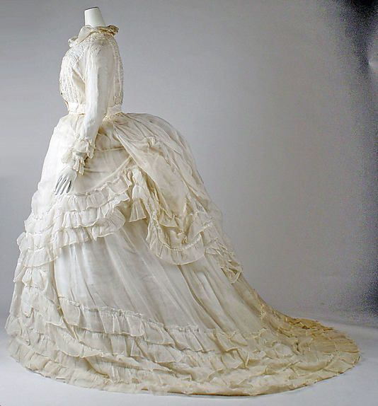 1870s Cotton Dress