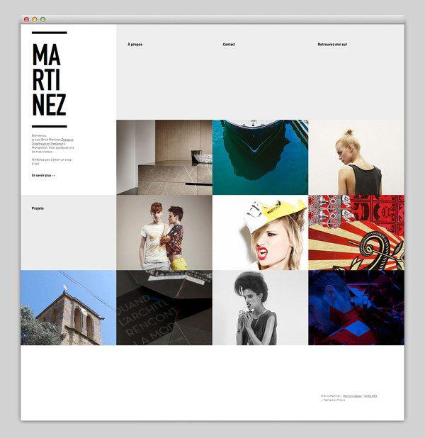 Web / Brice Martinez — Designspiration #grid