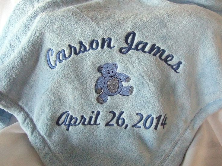 11 best baby gift ideas images on pinterest babies baby baby personalized baby blanket with teddy bear and babys name and birth date 3499 negle Image collections