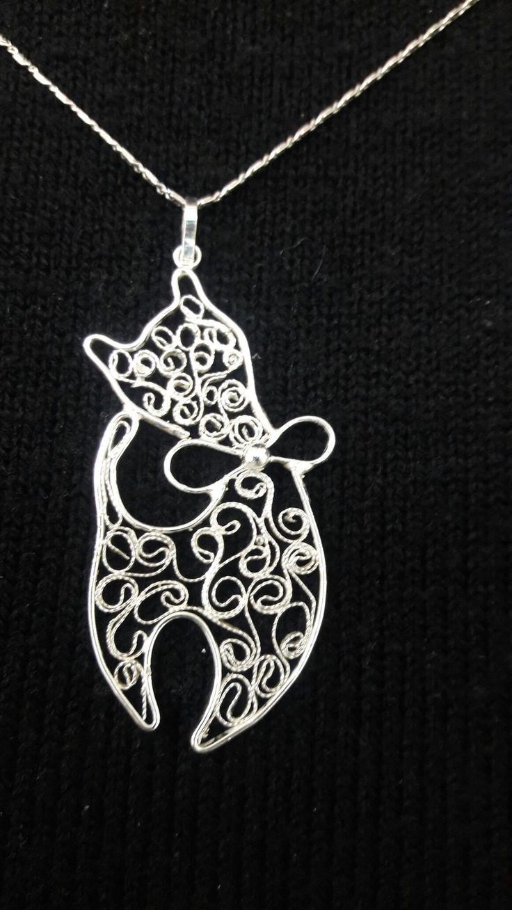 Izmirde Telkari sanatı sayfasından alıntıdır..minnak kedi