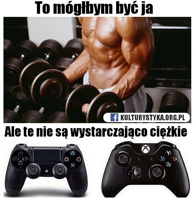 Śmieszne memy, trening, PS3, Xbox, PS4, kulturystyka, siłownia.