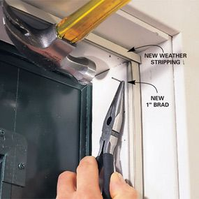Installing magnetic weather stripping for steel doors