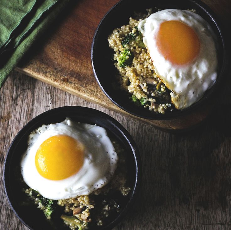 Veggie Quinoa Breakfast Bowl - part of the Quinoa Breakfast Recipes Roundup!