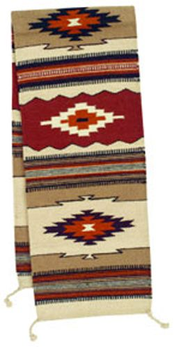 This Southwest Table Runner Is Handwoven From Wool In Vibrant Shades Of  Color With A Vibrant