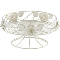 Single Rose Cake Stand - Cream
