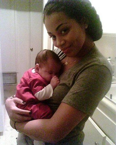 BLACK GIRLS W/DIMPLES | lauren-london-with-baby