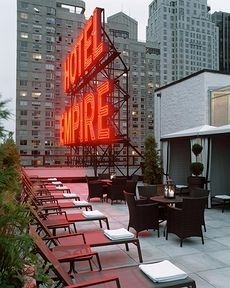 Empire Hotel, Manhattan...our honeymoon spot