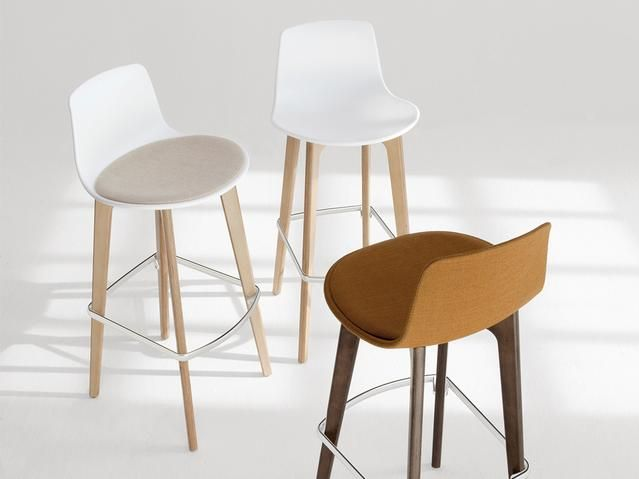 Enea Lottus 4 Leg Timber Base Stool Designed By Lievore Altherr Molina Wood Bar
