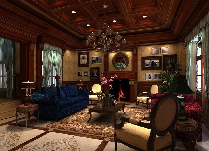 Luxury Living Room Design Ideas With Enticing Decor Inside: Red-wood-ceiling-design-for-living-room.jpg 1,019×737