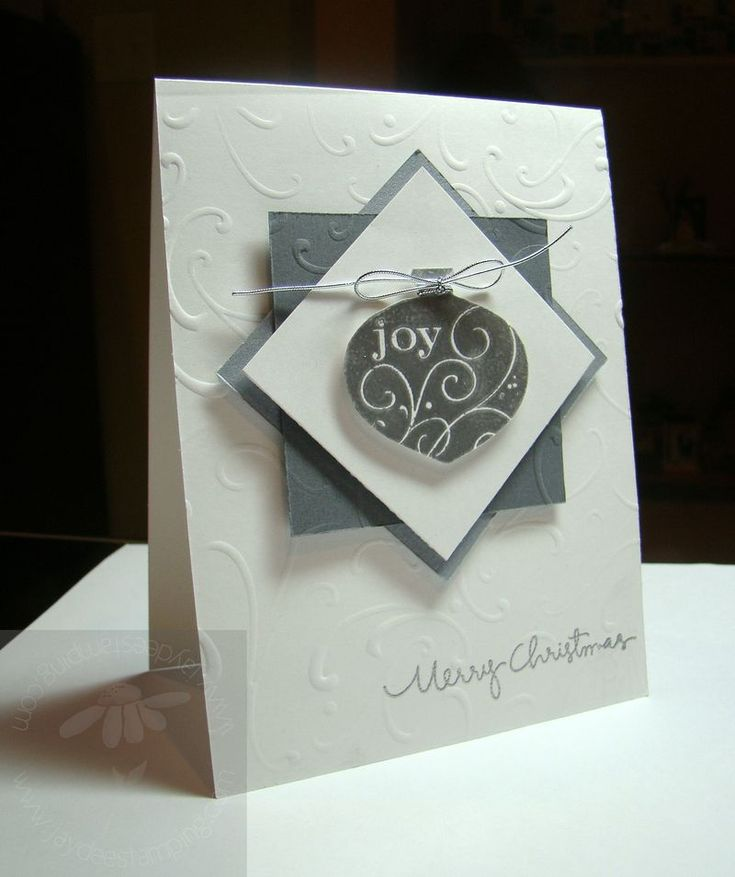 handmade Christmas card ... luv how elegant this card is in white and silver ... Stampin' Up!