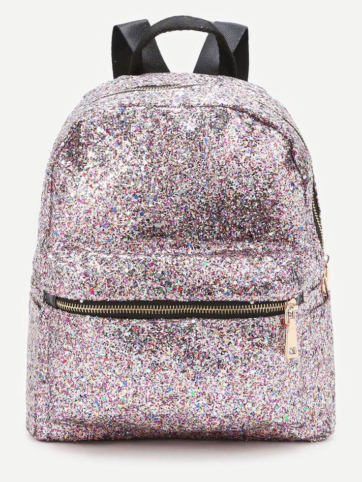 Shop Pink Front Zipper Glitter Backpack online. SheIn offers Pink Front Zipper Glitter Backpack & more to fit your fashionable needs.