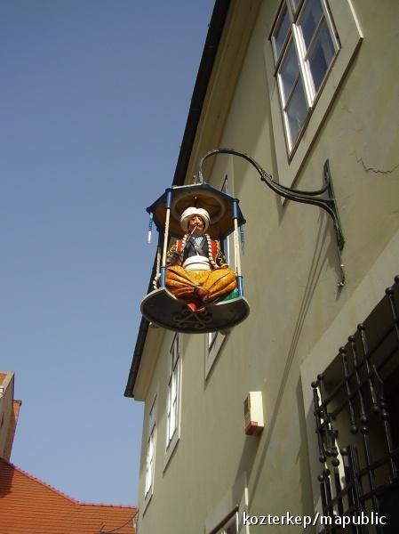 Basa lamp housing sign - Székesfehérvár, Hungary