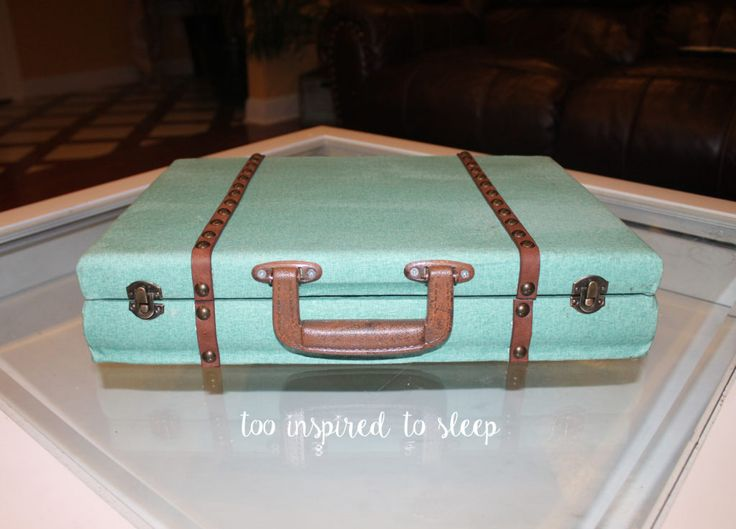 Vintage Luggage from a Flatware Storage Box