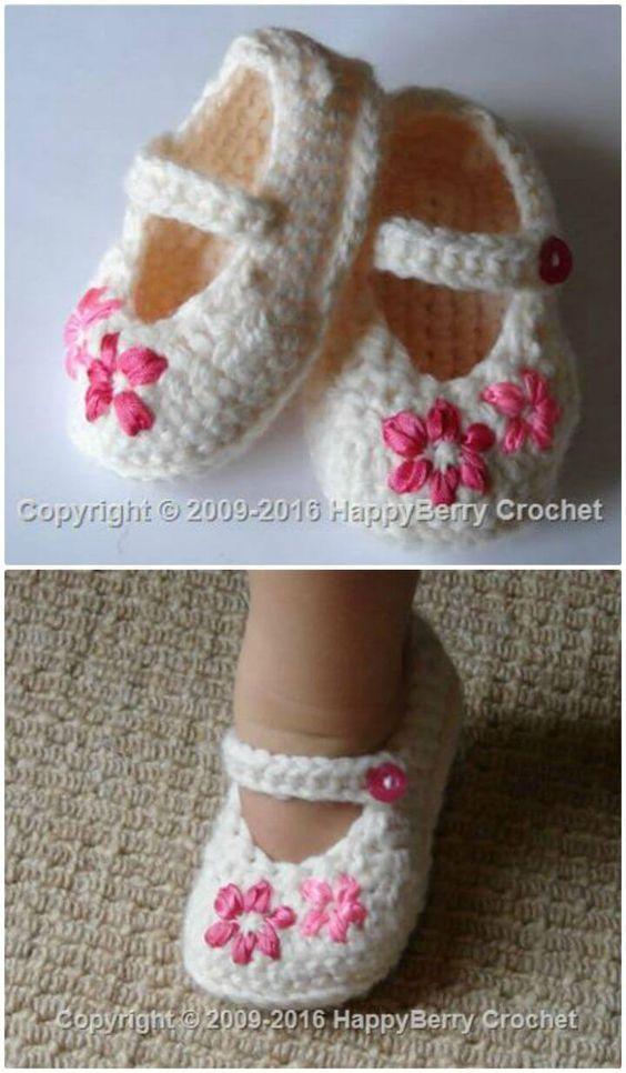 c432997cd5445 Crochet Baby Booties – 55 Free Crochet Patterns for Babies ...