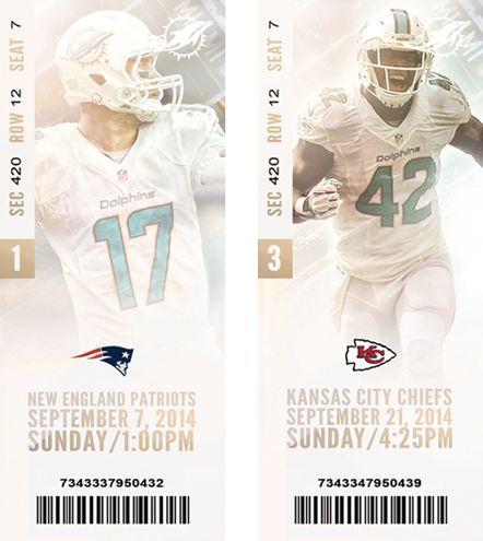 Miami Dolphins Season Tickets on Behance: Miami Dolphins Season Tickets on Behance