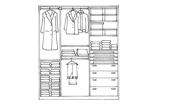 Come organizzare la cabina armadio per lui