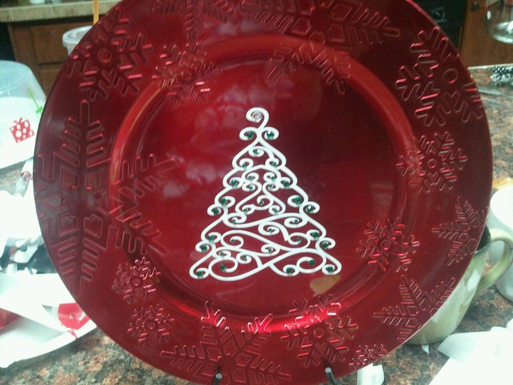 Christmas Charger: C Cricuit Ideas, Cricut Ideas, Crafts Ideas, Christmas Crafts, Cricut Crafts, Christmas Chargers, Cricut Vinyls, Christmas Plates, Christmas Projects