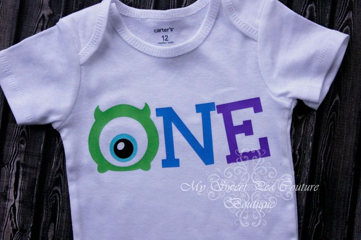 First Birthday Monster Onesie- Monster Inc- Personalized- First Birthday Outfit- 1st Birthday- Monsters Inc Birthday- One Oneise- Photo Prop by MySweetPeaCouture on Etsy