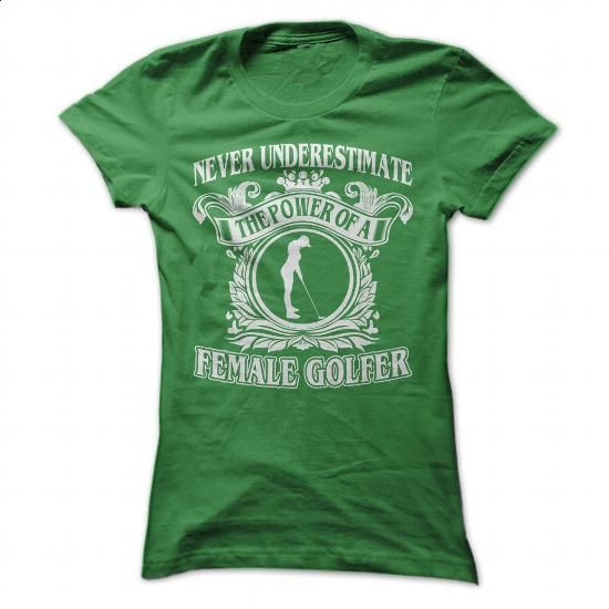 Cool Female Golfer - #hoody #make t shirts. I WANT THIS => https://www.sunfrog.com/Sports/Cool-Female-Golfer-Green-Ladies.html?60505