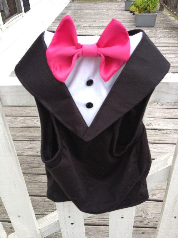 Dog Wedding Tuxedos by GypsyEyesClothing on Etsy, $45.00