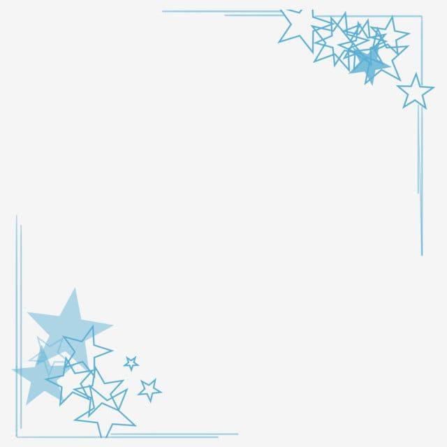 Blue Corner Mad Border Illustration Corner Border Clipart Blue Stars Five Pointed Star Decorative Border Png Transparent Clipart Image And Psd File For Free Clip Art Borders Star Illustration Abstract