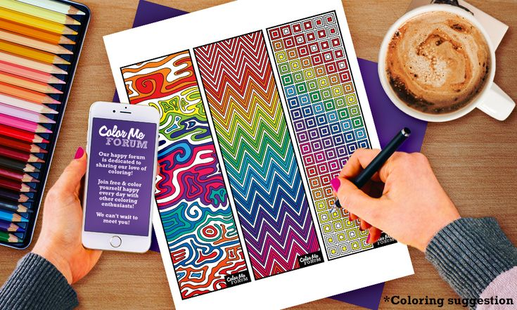 New Coloring Page: Jumbo Bookmark Coloring Page - Color Me Announcements - Color…