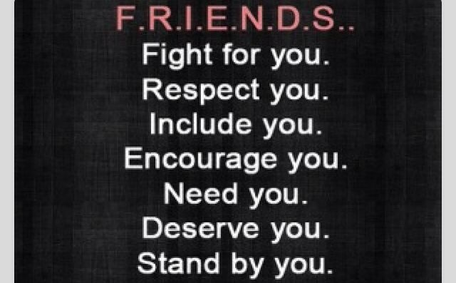 All of these traits is a true friend for a person that wants to now if that is a good friend or not.