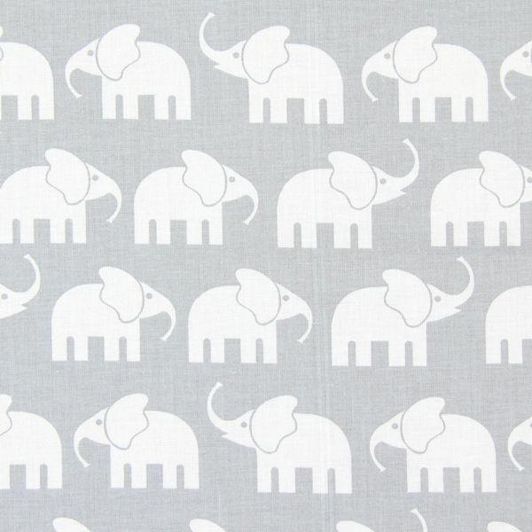 Cotton Elephant 3 - Bomull - grått