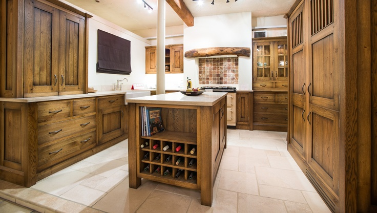 A traditional kitchen in our showroom.