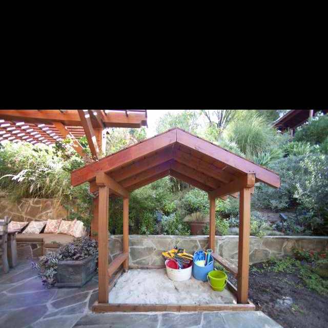 sand box playhouse from houzzcom sandbox ideaskids - Sandbox Design Ideas