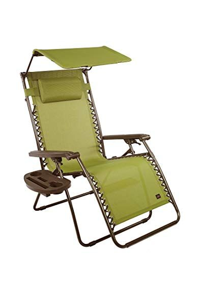 xl zero gravity chair with canopy and footrest upholstery ideas bliss hammocks side tray sage green 31 wide review