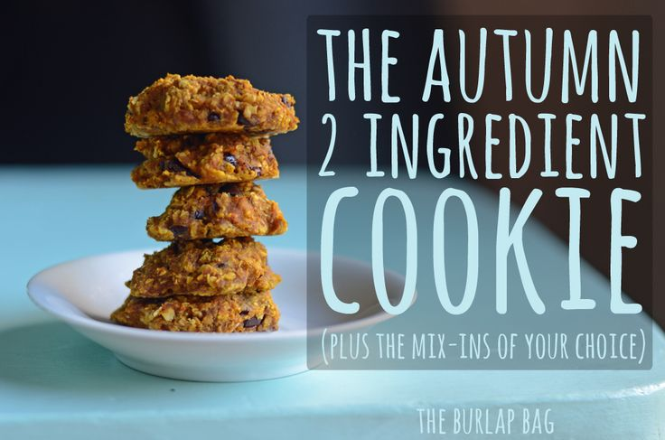 The autumn 2 ingredient cookie - plus the mix-ins of your choice! -The Burlap Bag