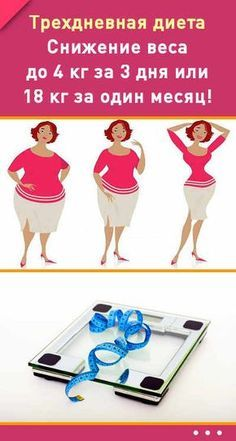 Трехдневная диета. Снижение веса до 4 кг за 3 дня или 18 кг за один месяц! #диета #тридня #снижениевеса #похудение #фигура #женщина