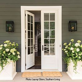 Marvin s countless bay window options make it easy to - How wide are exterior french doors ...