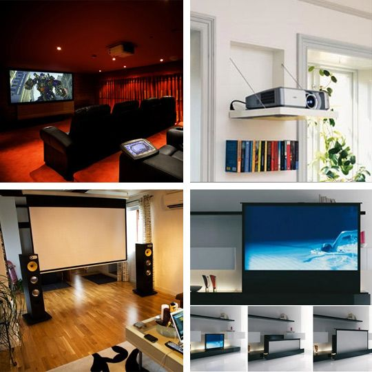 Theater Room With Hidden Projector: 11 Best Home Theater Images On Pinterest