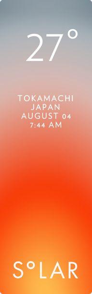 十日町市 weather has never been cooler. Solar for iOS.
