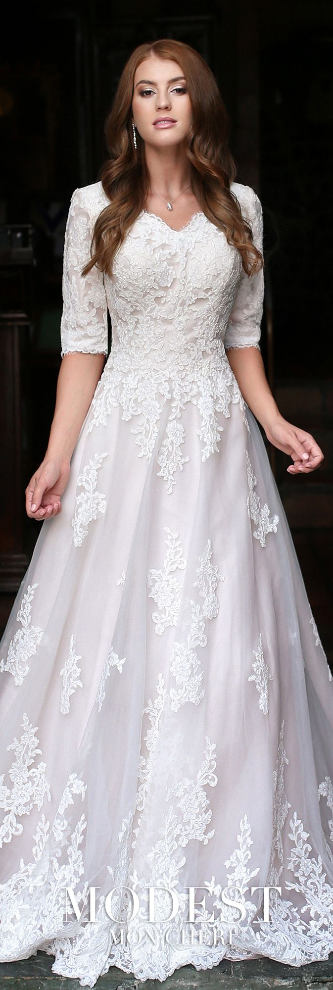 Modest Wedding Dresses Modest By Mon Cheri Modest Wedding Dresses Wedding Dresses Modest Wedding Gowns [ 2000 x 673 Pixel ]