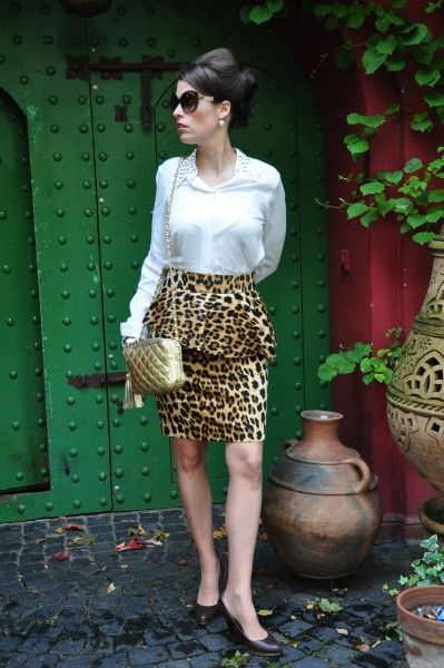 Zara leoparden Bleistiftrock