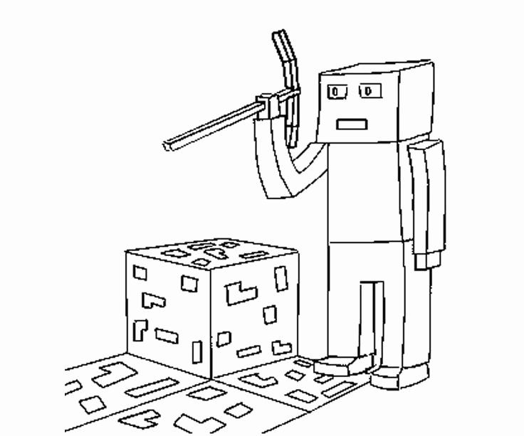 32 Minecraft Skeleton Coloring Page in 2020 (With images ...
