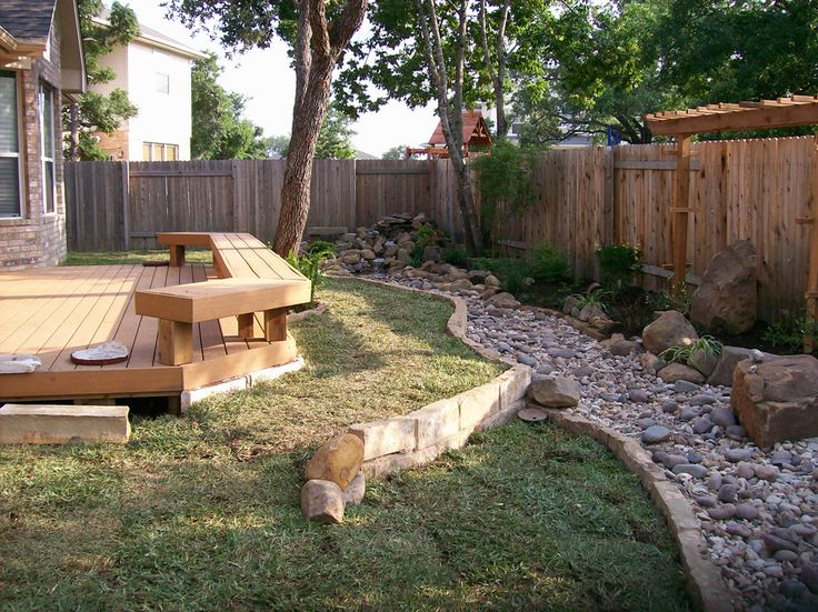 Dry creek bed to form part of garden edge landscaping for Dry garden designs