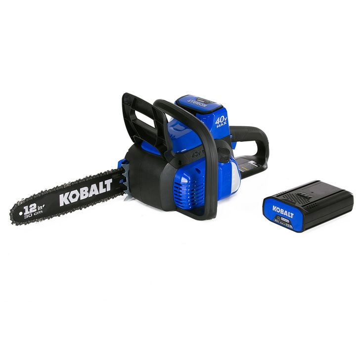 Kobalt 40-Volt Max Lithium Ion (Li-ion) 12-in Cordless Electric Chainsaw (Battery Included)