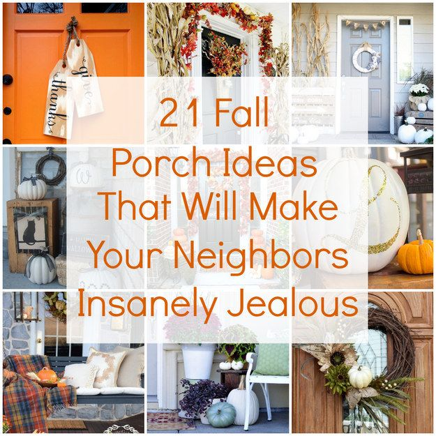 617 best autumn decorating ideas images on pinterest Small front porch decorating ideas for fall