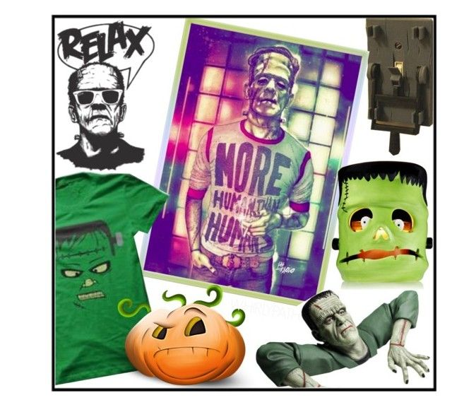 Frankenstein! by whirlypath on Polyvore featuring art