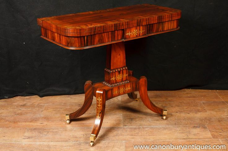 Photo of Single Regency Games Card Table Occasional Side Tables Rosewood Furniture. not only is this a gorgeous card table but it can also function as a standalone Regency side table. Come view this Regency games table in our showroom - please get in touch