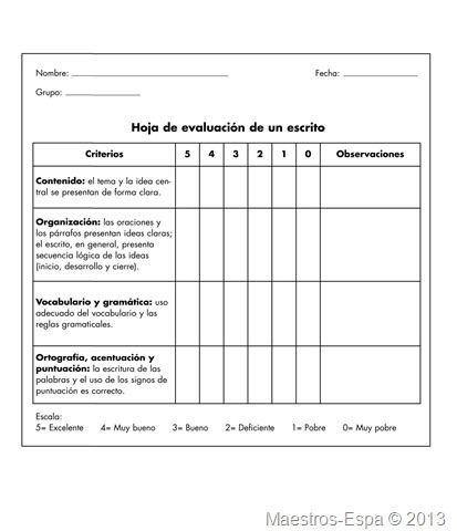 Estoy organizando algunos ejercicios para trabajar en educación primaria y he encontrado una rúbrica para evaluación de un escrito. Espero esta rúbrica te ayude al momento de enseñar a escribir a...