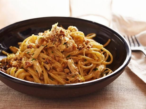Giada's Recipe for Chicken Carbonara - not really into the nuts on top but food for thought none the less