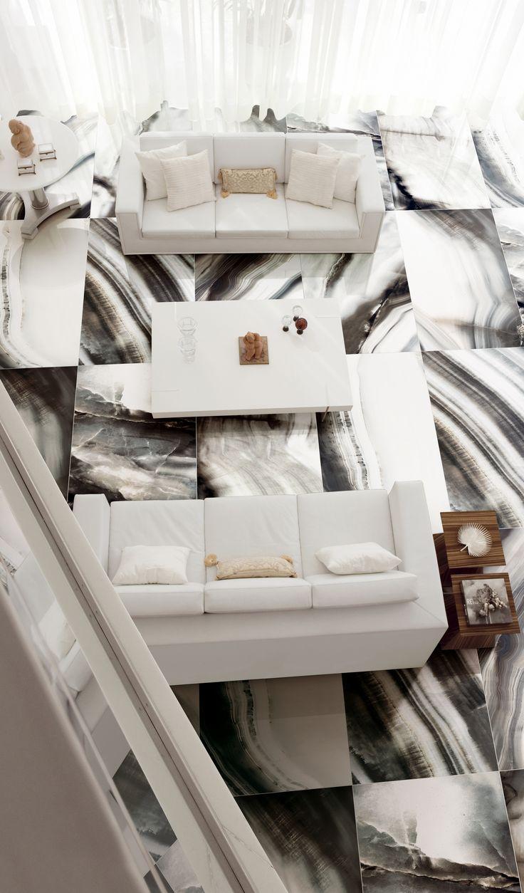 Photos of luxury on elegant floor. Rex tilles, made in Florim.