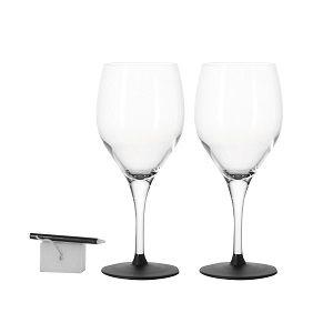 Leonardo Set of 2 Chalkboard Wine Glasses Chalk & Sponge