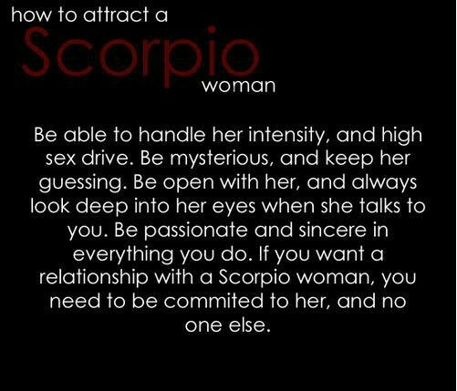How to get with a scorpio woman
